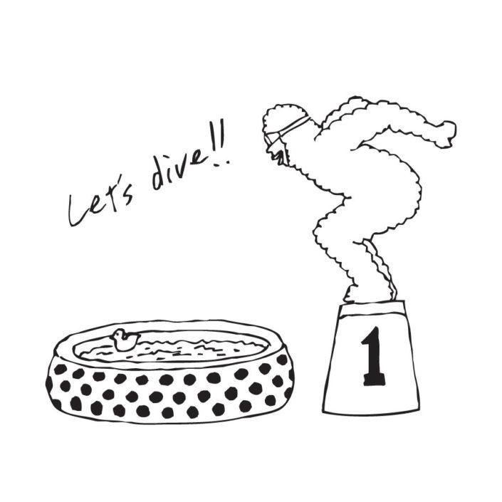 CLOUDMAN let's dive(W221mm / H177mm)