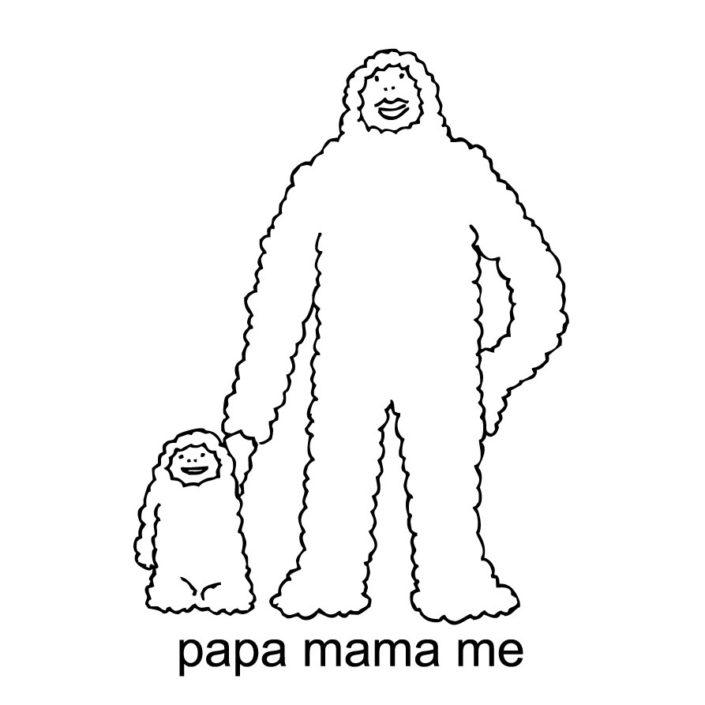 CLOUDMAN papa mama me(W241mm / H347mm)