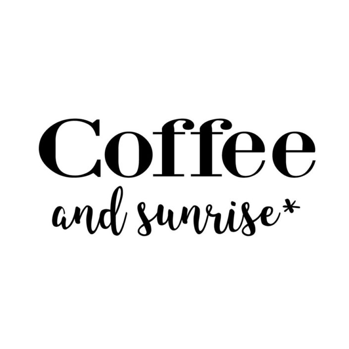 coffee and sunrise(W241mm / H102mm)